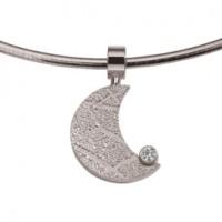 Moon zirconia argent