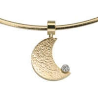 Moon zirconia or jaune/jaune