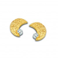 Moon zirconia or jaune/jaune