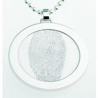 Coin L argent 33 mm avec œillet